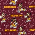 Washington Redskins Cotton Fabric-Mickey Mouses