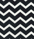 Home Essentials Lightweight Decor Fabric 45\u0022-Chevron Black