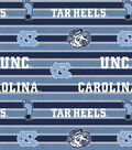 University of North Carolina Tarheels Fleece Fabric 58\u0022-Polo Stripe