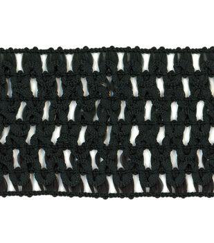 Simplicity Trims-Crochet Headband Black