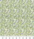 Premium Cotton Fabric -Brush Strokes Green