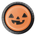 Maker\u0027s Halloween 8 pk 6.88\u0027\u0027 Lunch Plates-Jack-o\u0027-lantern