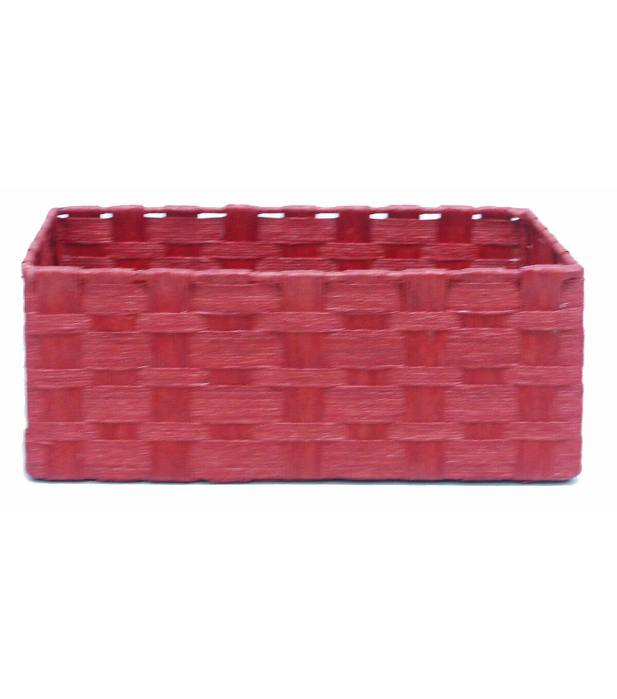 Organizing Essentials Paper Rope Media Basket Red?