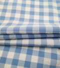 Homestead Pucker Gingham Poly Cotton Fabric-Blue White