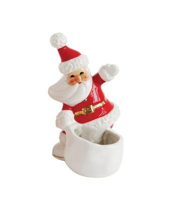 3R Studios Christmas 5.98'' Ceramic Vintage Santa Container