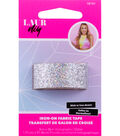 LaurDIY Iron-on Holographic Glitter Fabric Tape 0.75\u0027\u0027x36\u0027\u0027 -Silver