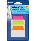 Avery Multiuse Two-Side Writable Ultra Tabs 2\u0022X1.5\u0022-24/Pkg, Neon