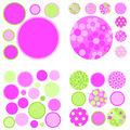 Wall Pops Gone Dotty Pink Green Appliques, 42 Piece Set