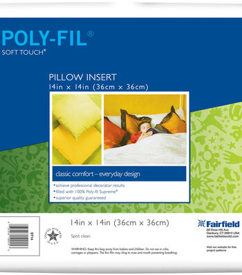 Soft Touch 14''x14'' Square Pillow Insert