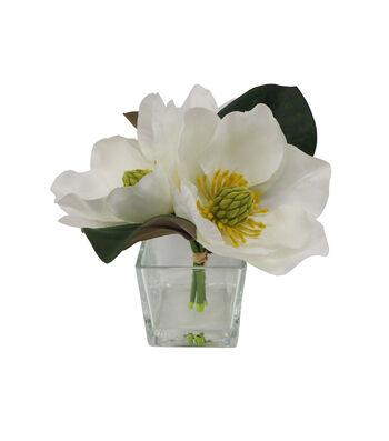 Fresh Picked Spring 8'' Magnolia Arrangement in Glass