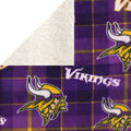 Minnesota Vikings Fleece Fabric-Plaid Sherpa