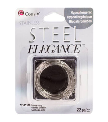 Stainless Steel Elegance Earring Hoops 22pk