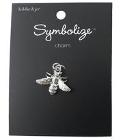 hildie & jo Symbolize 0.75''x0.88'' Bee Silver Charm, , hi-res