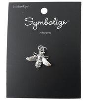 hildie & jo Symbolize 0.75''x0.88'' Bee Silver Charm, , hi-res
