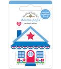 Doodlebug Doodle-Pops 3D Stickers-Cute Cottage