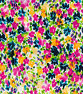Silky Prints Fabric-Scatter Floral Multi Stretch Sanded