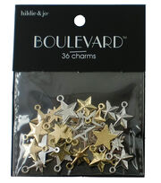 hildie & jo Boulevard 36 Pack Stars Silver & Gold Charms, , hi-res