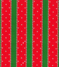 Christmas Cotton Fabric 44\u0022-Glitter Holiday Stripes & Dots