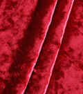 The Witching Hour Halloween Crossed Dye Stitch Velvet Fabric 57\u0022-Red