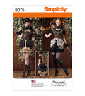 Simplicity Patterns Us8075R5-Simplicity Misses\u0027 Steampunk Costumes-14-16-18-20-22