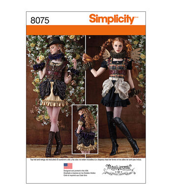 Simplicity Patterns Us8075R5-Simplicity Misses' Steampunk Costumes-14-16-18-20-22