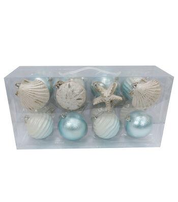 Maker's Holiday Christmas Nautical Noel Mixed Media Boxed Ornaments