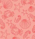 Snuggle Flannel Fabric 42\u0027\u0027-Coral Shells