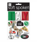 Soft Spoken Themed Embellishments-Authentic Italy