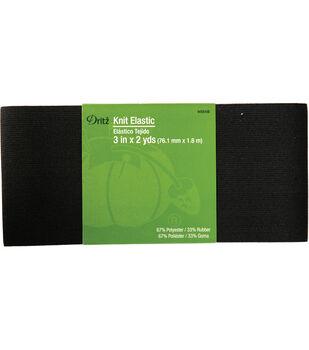 "Dritz Knit Elastic Black 3"" x 2 Yds"