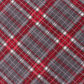 Anti-Pill Plush Fleece Fabric-Vail Gray & Red Bias Plaid