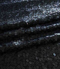 Casa  Dahlia Packed Large And Small Sequin On Mesh Fabric-Harbor Mist
