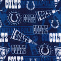 Indianapolis Colts Fleece Fabric-Retro