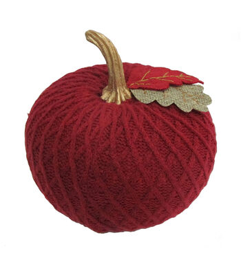 Simply Autumn Medium Sweater Knit Pumpkin-Burgundy