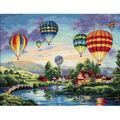 Dimensions 16\u0022x12\u0022 Counted Cross Stitch-Balloon Glow