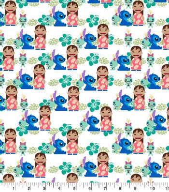 "Disney Lilo and Stitch Cotton Fabric 43""-Friends"