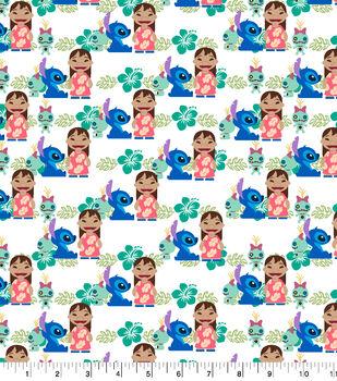 Disney Lilo & Stitch Cotton Fabric-Friends