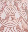 Casa Embellish Dahlia Fabric-Peach Blush Deco Sequins Mesh