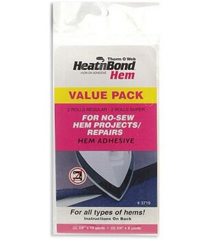 HeatnBond Hem Iron-On Adhesive-2 Sizes-4/Pkg
