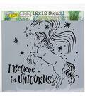 Crafter\u0027s Workshop Template 12\u0022X12\u0022-Believe In Unicorns