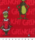 The Grinch Fleece Fabric 60\u0022-Red