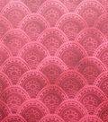 Silky Stretch Satin Textured Fabric-Burgundy Arches