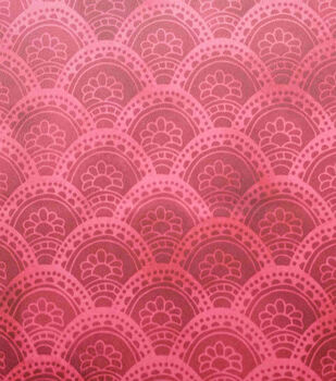 Silky Stretch Satin Textured Fabric-Burgundy Arches