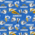 Los Angeles Chargers Cotton Fabric-Retro