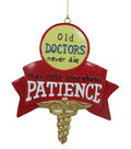 Maker\u0027s Holiday Christmas Ornament-Old Doctors Never Die