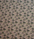 Quilter\u0027s Showcase Cotton Fabric-Blue Green Flowers on Beige