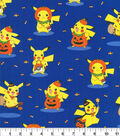 Pokemon Halloween Cotton Fabric 44\u0022-Pikachu