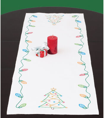 Jack Dempsey Stamped Table Runner/Scarf Christmas