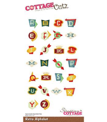 """CottageCutz Die-Retro Alphabet Up To 1.5"""""""