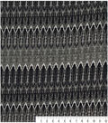 Knit Apparel Fabric 58\u0022-Grey Boho Geometric
