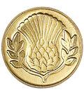 Manuscript Decorative Seal Coin-Thistle